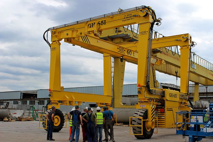 Industrial automotive gantry cranes GH65I intalled in Poznan, Poland. Customer: PEKABEX.