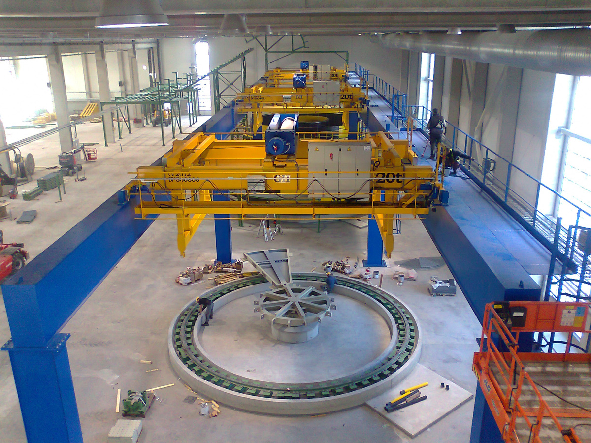 <br>Several overhead cranes with hoists of 20 t lifting capacity installed in Finland for Prysmian